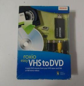 ROXIO Easy VHS to DVD for Windows Vista/XP 242500WM Sealed
