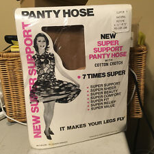 Vintage Gams Hosiery New 7 times super Support Pantyhose natural w model  sz pet