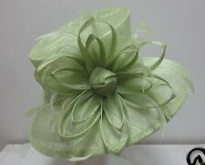 Ladies Light Green Flower Hat,Races,Wedding,Equine,Shows,Millinery,Derby Day