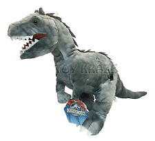 "JURASSIC WORLD PLUSH! GRAY LARGE SOFT DINOSAUR T REX DOLL 18"" NWT"