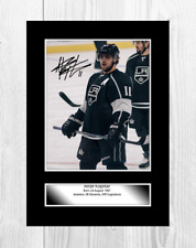 More details for anze kopitar (2) los angeles kings nhl signed a4 poster. choice of frame.