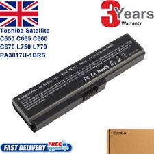 Battery for Toshiba Satellite PA3817U-1BRS C650 C655 C660 C670 L750 L770 M800 UK