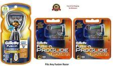 ~9 GILLETTE FUSION Proglide Power Flexball Razor Blades Refill Cartridges Shaver