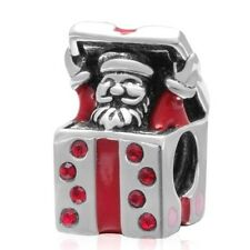 SANTA CLAUS FATHER CHRISTMAS Charm Bead 925 Sterling Silver