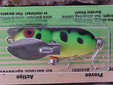 Heddon Tiny Crazy Crawler Topwater Nite Lure X0320GRA  Flo Green Crawdad - BASS
