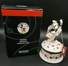 New Vintage Minnie Mouse Ballerina Hinged Music Box Midwest Collectible Rare 90s