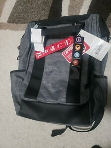 "SWISSGEAR 16.5"" Zip Top Tote Laptop Backpack Heather Gray - New With Tags"