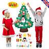 DIY Felt Christmas Tree Set with Ornaments for Kids Xmas Gifts Decor