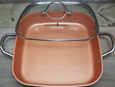 Copper Chef Bake Cookware Pan With lid Non Induction Brand New