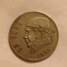 1971 Mexican Un Peso Coin Foreign Money