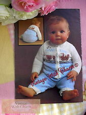 Vintage Knitting Patten Baby's All In One Playsuit With Train Motif JUST £1.99!!