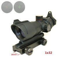 Hunting Rifle Scope ACOG 1X32 Red Green Dot Sight Use Shooting Optics