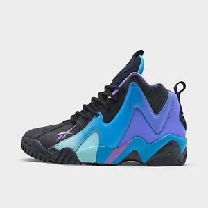 Mens Reebok Kamikaze Ii Basketball Shoes (Black/Digital Glow/Hyper Purple)
