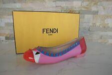 luxus FENDI Gr 37,5 Slipper Ballerinas Nieten bund Schuhe NEU UVP 495 €