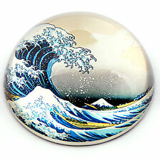 Great Wave off Kanagawa Japanese Glass Desktop Paperweight by Hokusai PHOK1