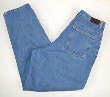 1de3deca4ddf7 L.L. Bean Women s Natural Fit High Waist Tapered Leg Blue Jeans 16 Reg