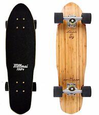 "LMAI 22''/27 "" Bambù Legno D'Acero Cruiser Skateboard Penny Nichel Stile"