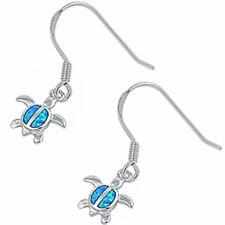 BLUE OPAL TURTLE .925 Sterling Silver Earring