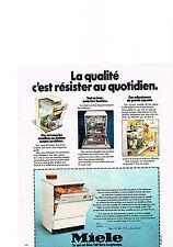 PUBLICITE  1978   MIELE  lave vaisselle