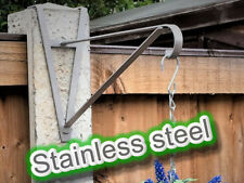 "4"" Concrete post stainless steel hanging basket bracket for up to 14"" basket"