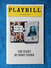 The Diary Of Anne Frank - Music Box Playbill w/Ticket - December 20th, 1997