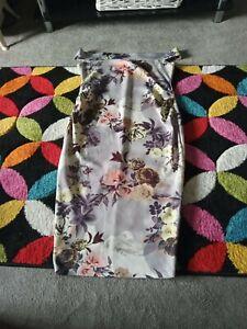 Light grey flowery dress size 10 off the shoulder