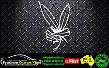 Marijuana Peace Car Window Sticker Decal
