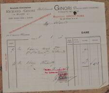 FATTURA RICHARD GINORI DOCCIA SESTO FIORENTINO SERVIZIO DA TAVOLA CERAMICA 1913