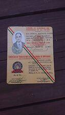 VTG 1951 RARE MEXICAN OBSOLETE WORKER ID-CHAMBER OF DEPUTIES-CAMARA DE DIPUTADOS
