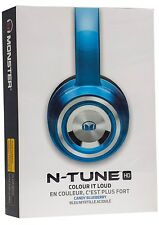 Monster N-TUNE Noise Isolating On-Ear Headphones w ControlTalk - Candy Blueberry