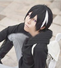 SERVAMP Rihito Short Black Mixed White cosplay wig