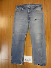 used Levis 501 destroyed feathered grunge USA jean tag 40x34 meas 36x30 16364F