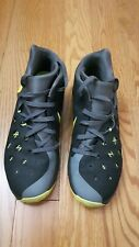 Mens Nike Zoom basketball shoes black / green colour size 11.5