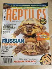 Reptiles Magazine Aug 2014 Russian Tortoise Aussie Shingleback Skink Amazon Tree