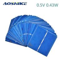 50Pcs Solar Panel Cells DIY Polycrystalline Silicon Photovoltaic Battery Charger