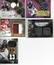 2011 EXQUISITE LEONARD HANKERSON RC AUTO DUAL JERSEY # 10/75  1 CARD ONLY