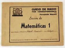 Curso de radio por correspondencia. Lección Matemáticas 1. Fernando Maymó