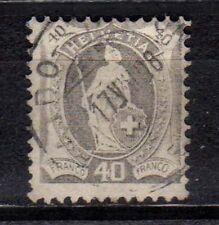 SVIZZERA SWISS SCHWEIZ 1907 Helvetia in Piedi 40c USATO