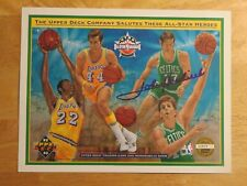 8x Champion HOFer JOHN HAVLICEK No 17 BOSTON CELTICS 8.5x10 Upper Deck Sheet COA