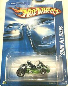 2008 Hot Wheels All Stars Go Kart #62 Green MOC