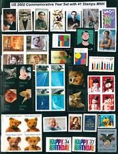US 2002 Commemorative Year Set with 41 Stamps MNH