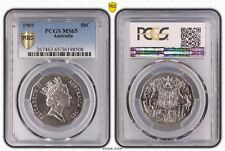 1989 50 Cent Australian Coat Of Arms PCGS Graded MS65 Uncirculated