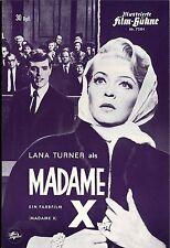 IFB 7284 | MADAME X | Lana Turner, John Forsythe | Topzustand