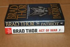 BRAD THOR 2 HARDCOVER BOOKS THE LAST PATRIOT ACT OF WAR LIKE NEW FREE SHIPPING!