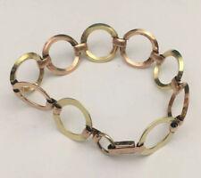 Vintage Probst USA 12K Rose & Yellow Gold Filled Circle Link Bracelet
