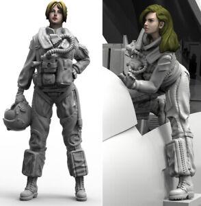 1/32 Resin US Pilots 2 Female Soldiers Unpainted Unassembled  3993