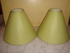 LOT DE 2 ABAT JOUR TISSU VERT pour pied de lampe vintage ou classique (5)