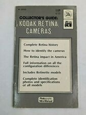 """Collector's Guide : Kodak Retina Cameras 1973 Photographic Mini-Manual"