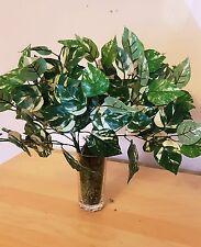 POTHOS 35cm Green/White Grass Bouquet Ivy Leaf Fern Artificial Leaves Vine