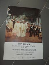 affiche exposition JEAN BERAUD 1979  AF103